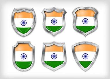 Vector india shield, vector illustration stock vector