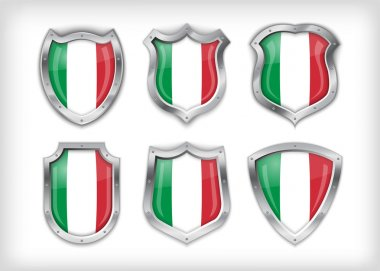 Italian safety label vector over white stock vector
