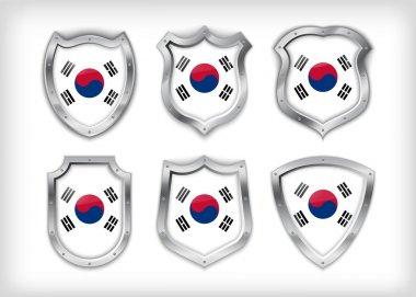South Korea vector shield stock vector