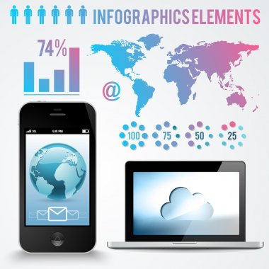 Set elements of infographic stock vector