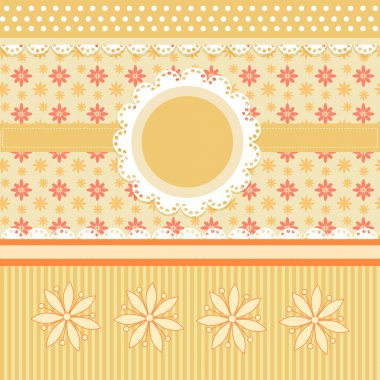 Floral background , vector illustration stock vector