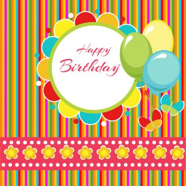 Happy birthday vector background stock vector