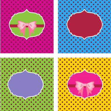 Set of frames vector stock vector