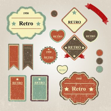 Set of vintage frames stock vector