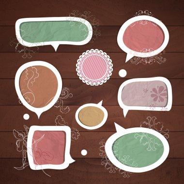 Speech bubbles .Vector set