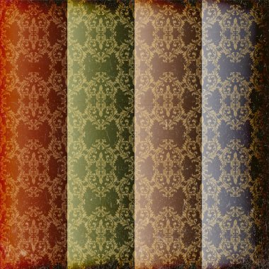 Set of 4 seamless patterns. Vector stock vector
