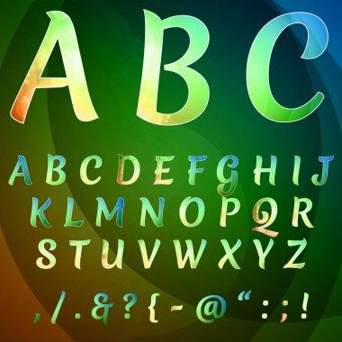 Alphabet set vector, vector illustration stock vector