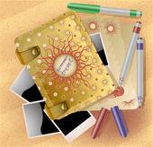 Travel notebook, vector illustration