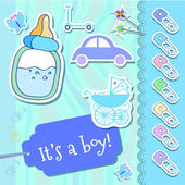 Vektor Baby Boy Grußkarte