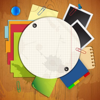 Background of paper sheets stock vector