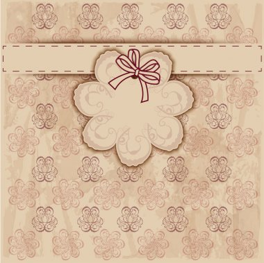 Vintage frame. Vector background stock vector