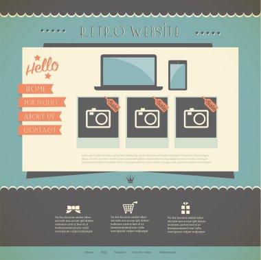 Vector Website Design Template stock vector