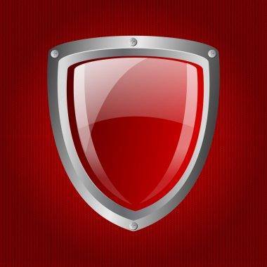 Vector red metallic shield stock vector