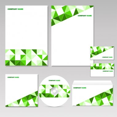 Set of corporate elements. stock vector