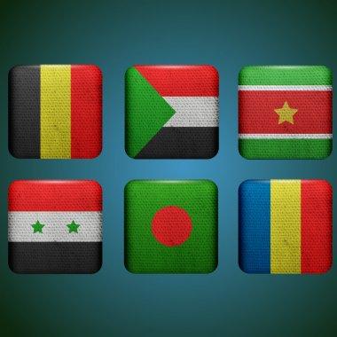 Vector set of flags stock vector