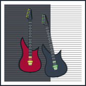 Vector background with electric guitar
