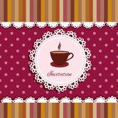 Egy csésze teát háttérben