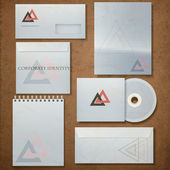 Corporate identity template, vector illustration