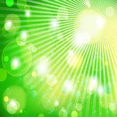 Green light background, vector illustration