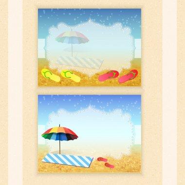 Summer holidays vector background. stock vector