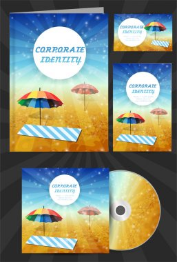 Corporate identity for travel company stock vector