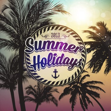 Summer holidays vector background. stock vector