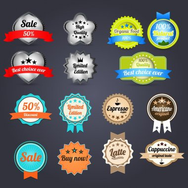 Set of retro vintage badges and labels stock vector