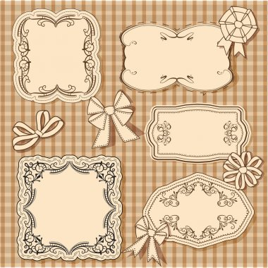 Vector set of vintage frame stock vector