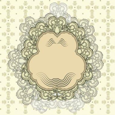 Vintage frame, vector illustration stock vector