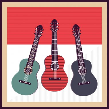 Vector background with guitars stock vector