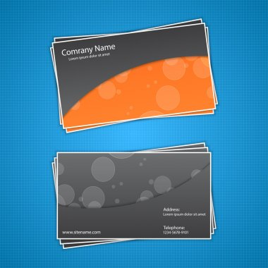 Vector business card, vector illustration stock vector