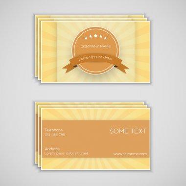 Vector business card, vector illustration stock vector