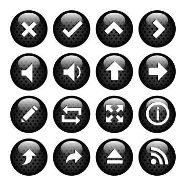 Set icons for the computer stock vector