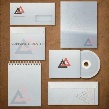 Corporate identity template, vector illustration stock vector