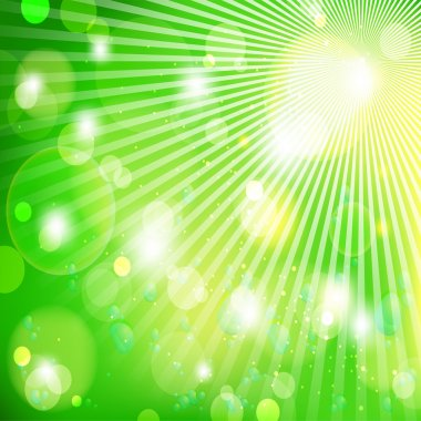 Green light background, vector illustration stock vector