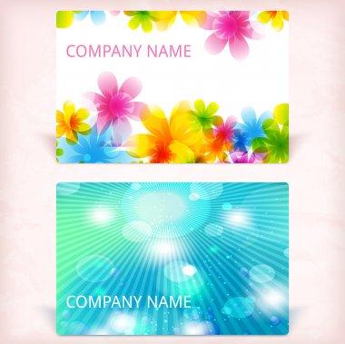Modern business card, vector illustration stock vector
