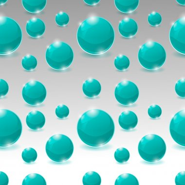 Vector seamless pattern of bubbles stock vector
