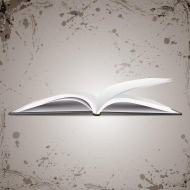 Vector open book, vector illustration stock vector