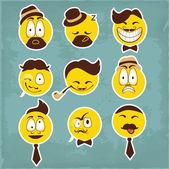 Vicces karakterek. Vektor készlet