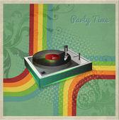 Vinyl játékos vektor, vektor illusztráció