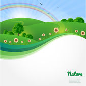 Summer sunny landscape. Nature vector