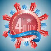 Függetlenség napja - 4 július vektor háttér