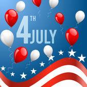 Den nezávislosti-4 července vektorové pozadí