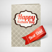 Glückliche Vatertagskarte. Vektor
