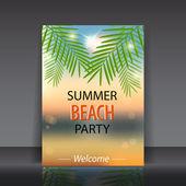 Summer beach party. vector illustration