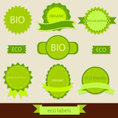 Collection of vintage grunge bio and eco labels natural products