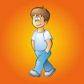 vektorový obrázek chlapce