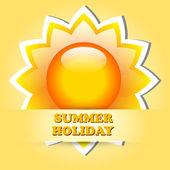 Beautiful summer vector illustrations