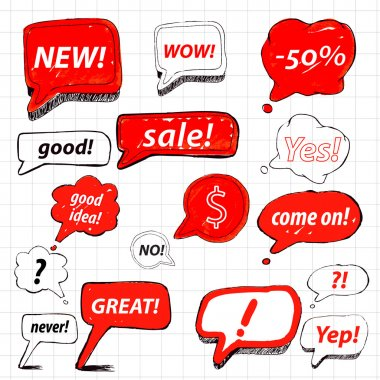 Vector set of speech bubbles for sale stock vector