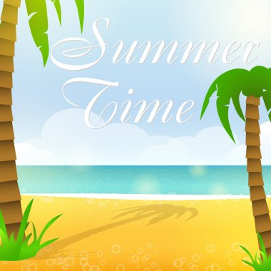 Summer time, vector illustration stock vector